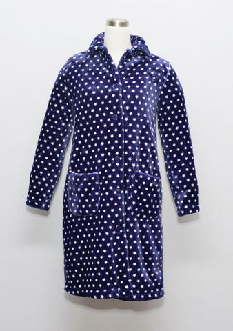 STAR LADIES FLANNEL FLEECE HOUSECOAT