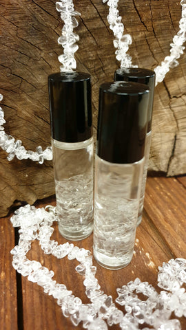 Clear Quartz Roller Bottles - Calming