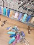 Rainbow Quartz Keyrings