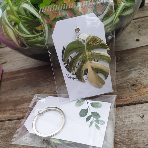Variegated Monstera Keyring