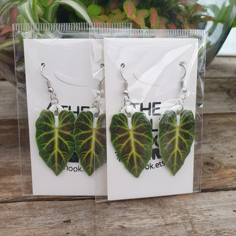 Philodendron Verrucosum Drop Earrings