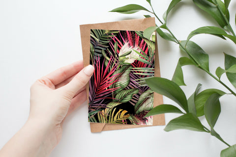 Watercolour Tropical 001 - Postcard Size