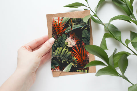Watercolour Tropical 002 - Postcard Size