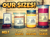 Continental Wax Works candle jar sizes