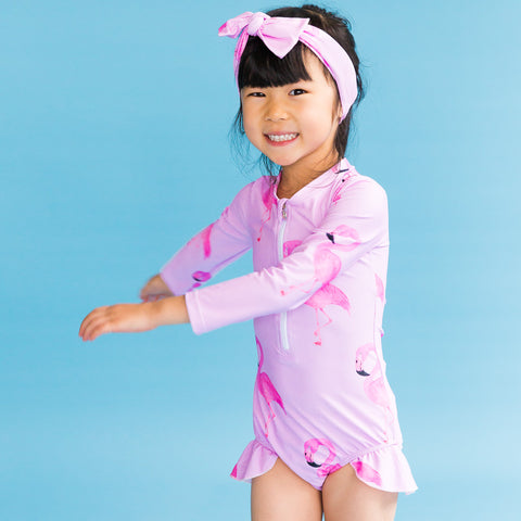 Pink Koala Long Sleeve Swimmers