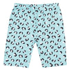 Aqua Leopard Print Kids' Bike Shorts