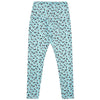 Aqua Leopard Print Women's Leggings