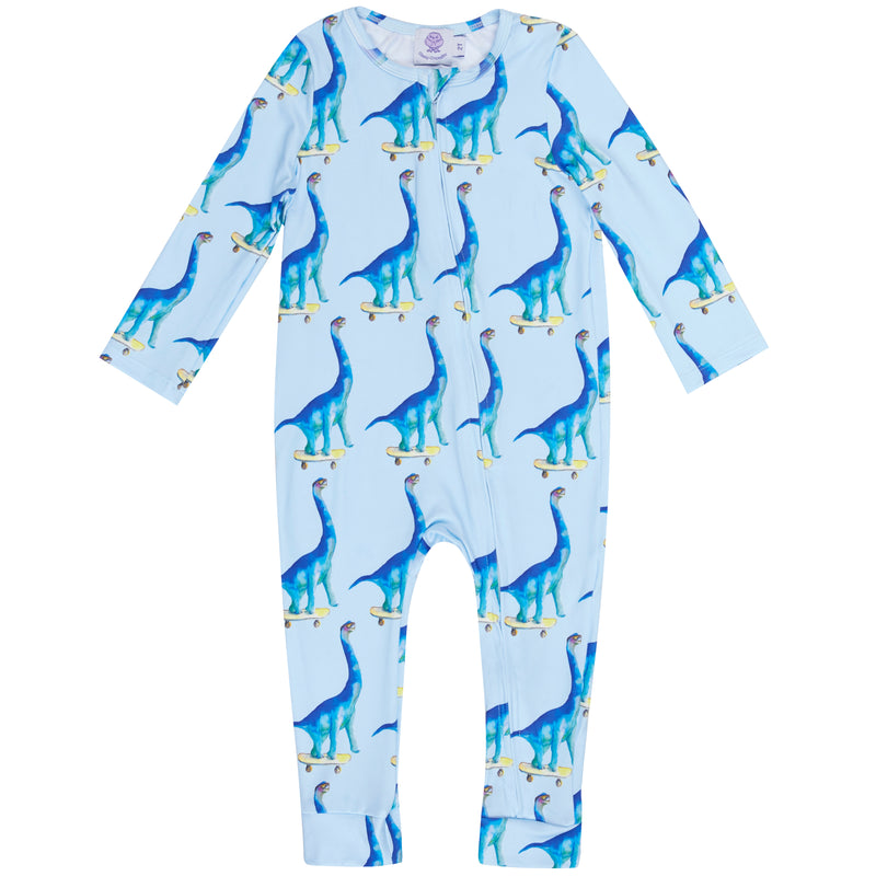 Blue Dinosaur Zip Sleepsuit