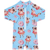 Blue Pug Unisex Long Sleeve Zip Swimmers
