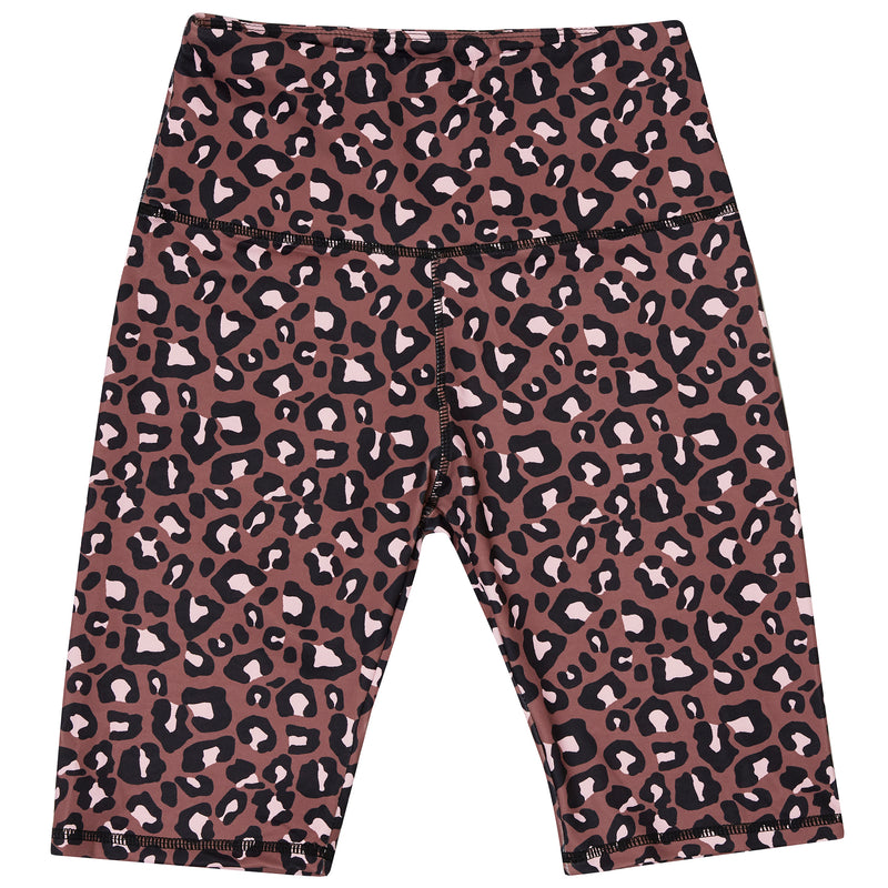 Terracotta Leopard Women's Bike Shorts