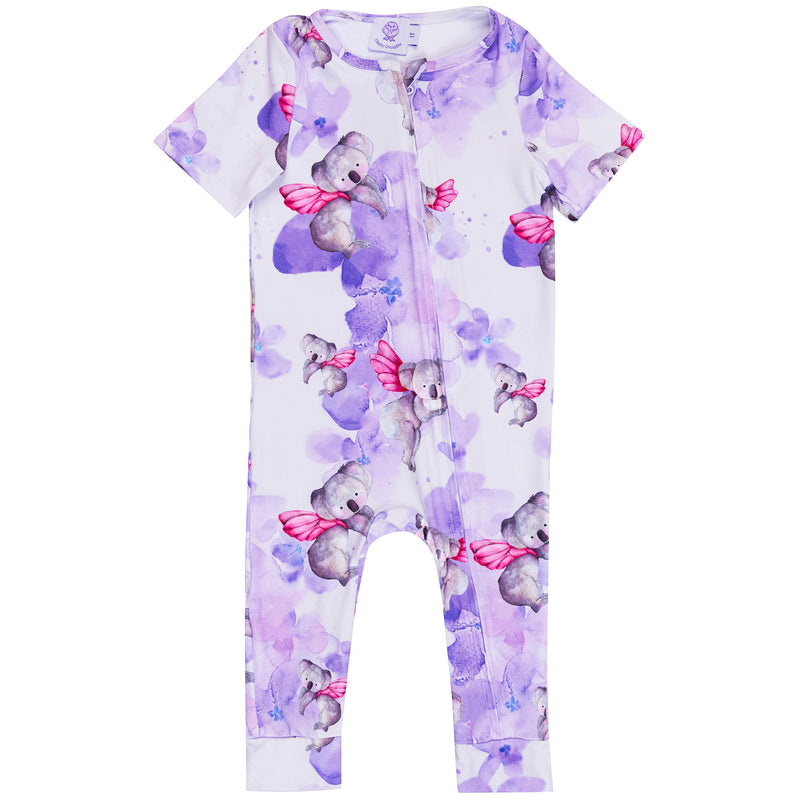 Fairy Koalas Short Sleeve Zip Sleepsuit