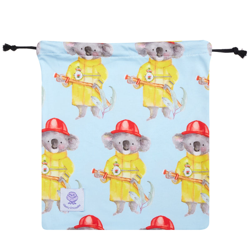 Firefighting Koala Unisex Long Sleeve Zip Swimmers