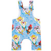Floating Animals Short-Leg Overalls