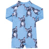 Blue Frenchie Long Sleeve Unisex Zip Swimmers