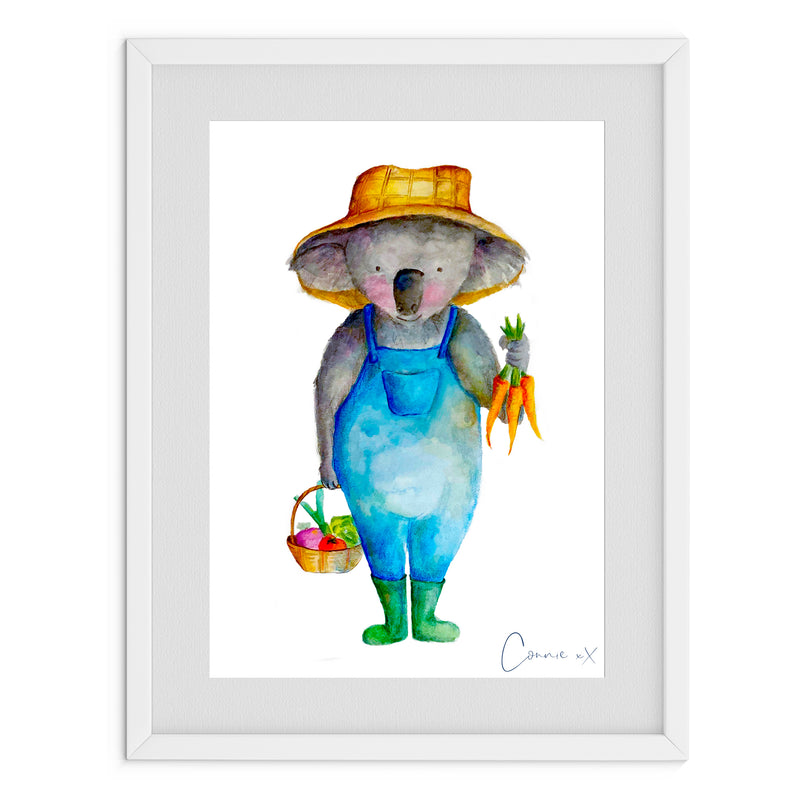 Gardener Koala Watercolour Print