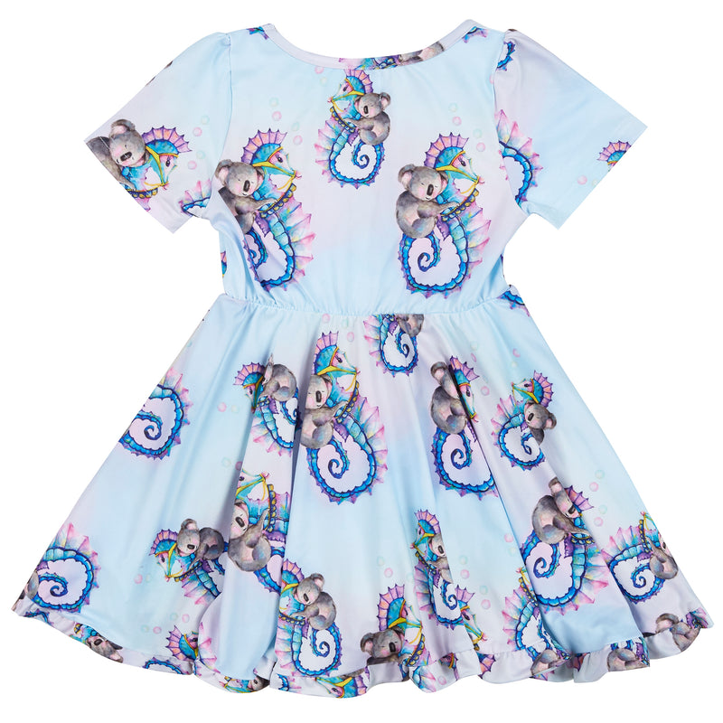 Seahorse Riding Koala Twirl Dress