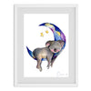 Koala And The Stars Watercolour Print