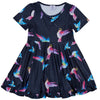 Navy Hummingbirds Twirl Dress