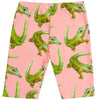 Peach Crocodile Kids' Bike Shorts