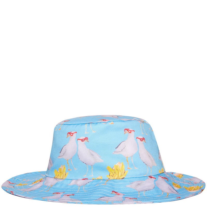 Seagulls and Chips Beach Hat