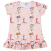 Australian Animals Short Sleeve Frill Dress