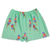 Green Rainbow Lorikeet Swim Shorts