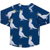Navy Cockatoo Kids' Rash Top