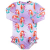 Mermaid Girls Long Sleeve Back Zip Swimmers
