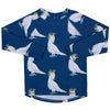 Navy Hummingbirds Unisex Long Sleeve Zip Swimmers