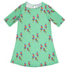 Green Rainbow Lorikeet Women's Shift Dress