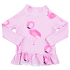 Beige Platypus Long Sleeve Girls Zip Swimmers