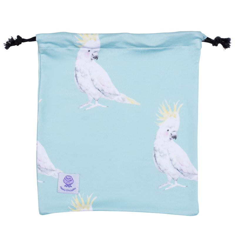 Green Cockatoo Long Sleeve Girls Zip Swimmers