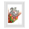 Mum and Bub Koala Watercolour Print