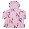 Pink Rainbow Lorikeet Raincoat