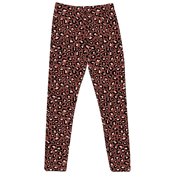 Terracotta Leopard Print Matching Kids Leggings