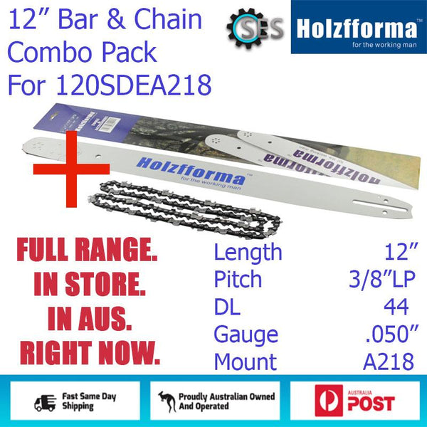 "12"" Holzfforma CHAINSAW BAR & CHAIN COMBO 3/8""LP DL44 (.050"") for 120SDEA218"