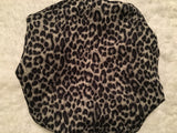 Black Spotted Oversized Satin Bonnet