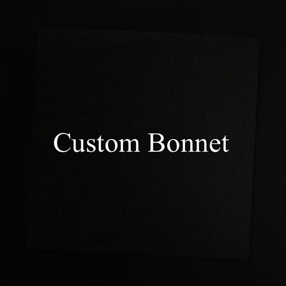 Custom Oversized Satin Bonnet