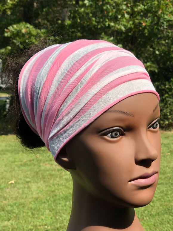 Pink Stripped Hood