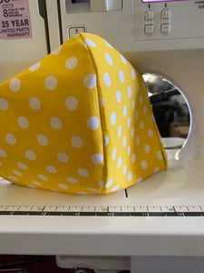 Yellow Polka Face Mask