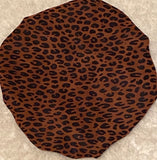 Cheetah Regular Sized Satin Bonnet