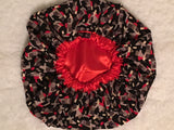 Crimson Oversized Satin Bonnet