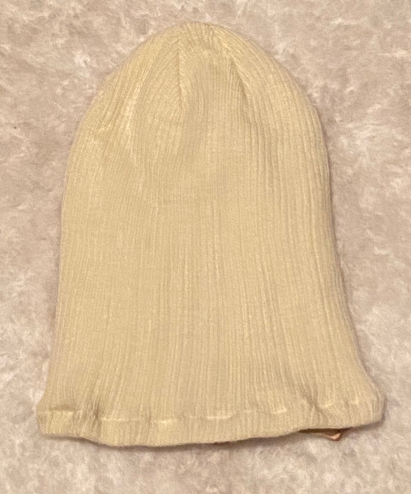 Ivory Satin Lined Beanie