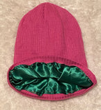 Hot Pink Satin Lined Beanie