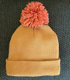Mustard Satin Lined Boggan with Pom
