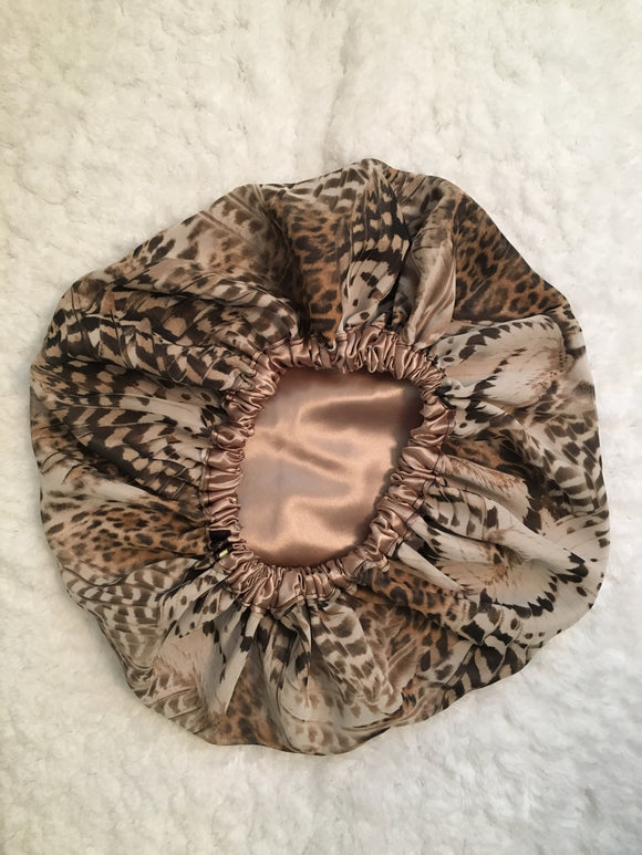Julee's Butterfly Oversized Satin Bonnet