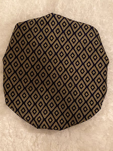 Diamond Cut Oversized Satin Bonnet