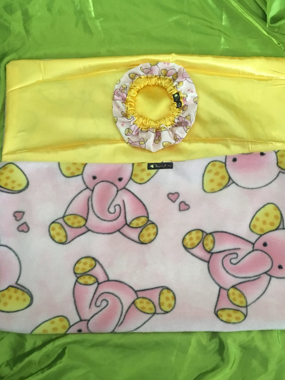 Bonnie's Bundle Newborn Satin Bonnet and Blanket