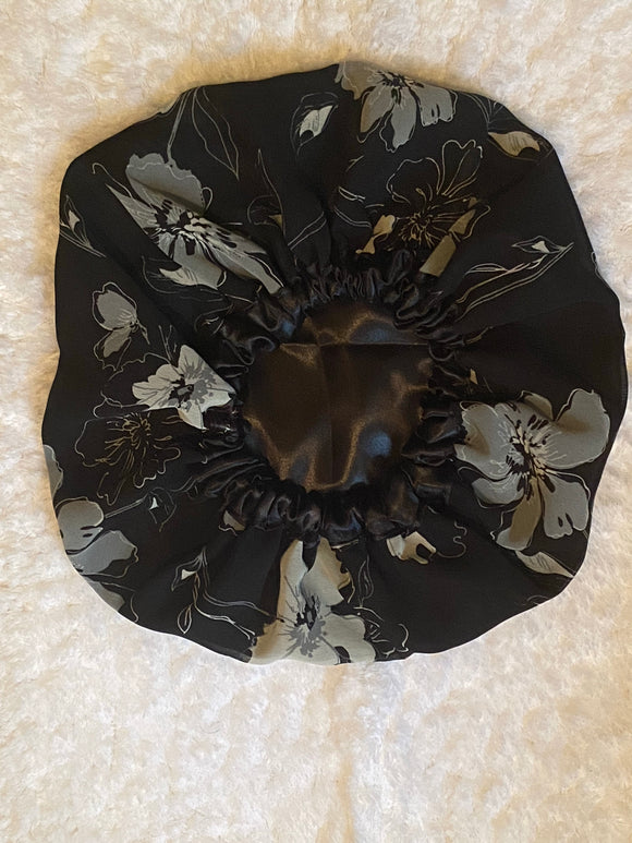 Whitney Oversized Satin Bonnet
