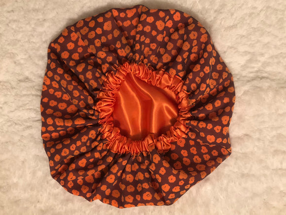 Curly Oversized Satin Bonnet